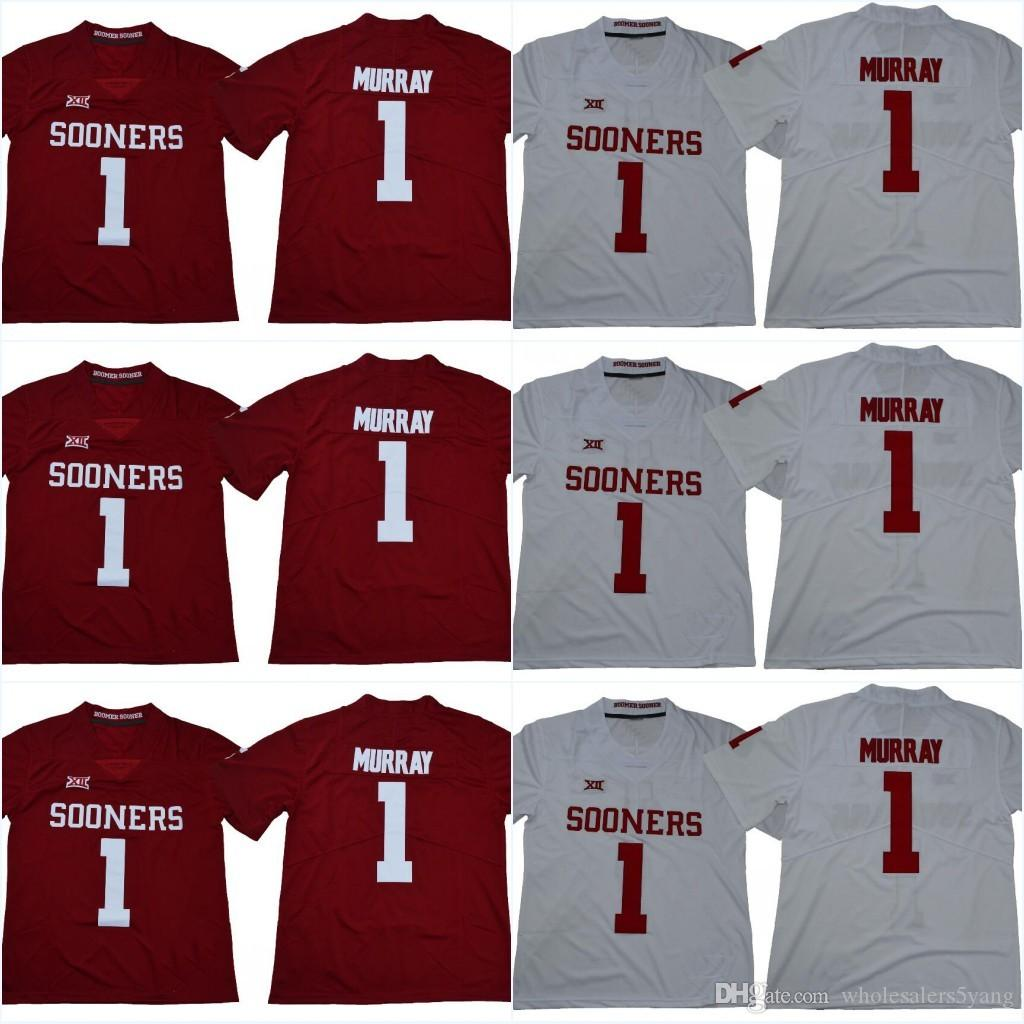 17108a66f Jumpman Oklahoma Sooners  1 Kyler Murray  6 Baker Mayfield 2018 New Style  College Stitched Jerseys Can Jerseys Online with  27.48 Piece on ...