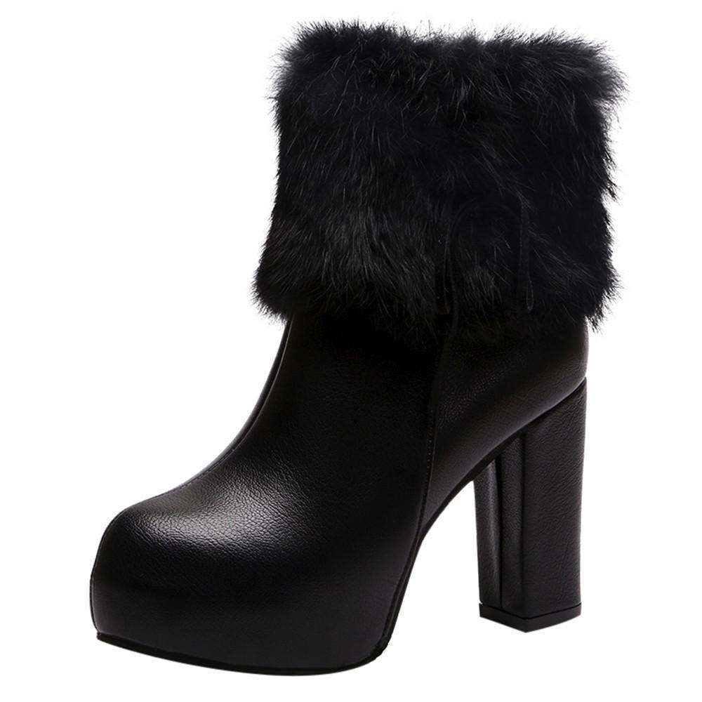 fe65d80c26d0a4 Acheter Chaussures Pour Femmes Bottes D'hiver En Cuir Avec Tube ...