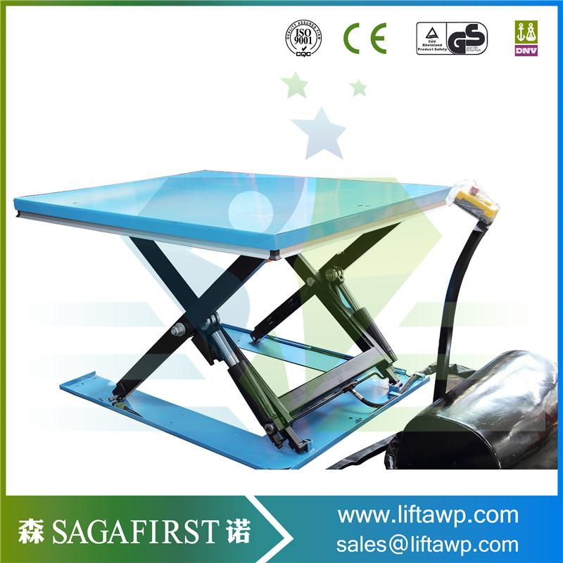 Electric Hydraulic U Scissor Lift Table for Lifting Pallet
