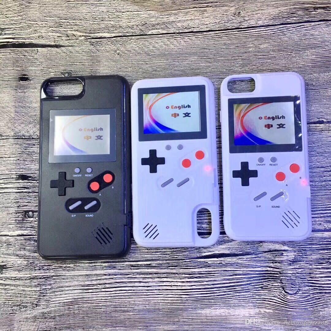 A todo color, fundas para teléfonos GameBoy para iphone 6 6s 7 8 plus X Classic Retro Tetris Game cover para iphone X 8 7 6 Xs Coque máximo Venta caliente