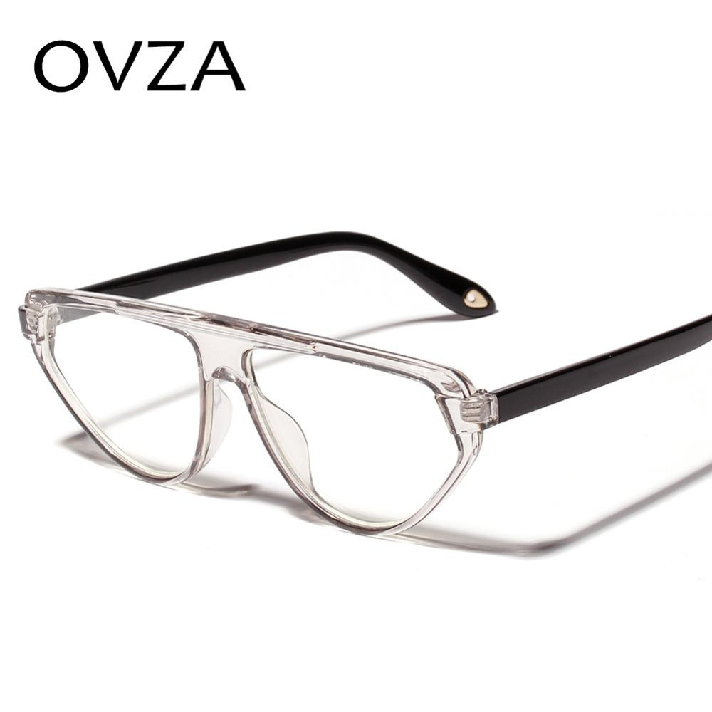 6962ee0b6e 2019 OVZA Fashion Transparent Glasses Frames For Women Triangle Designed Two  Color Glasses Frame Mens From Marquesechriss