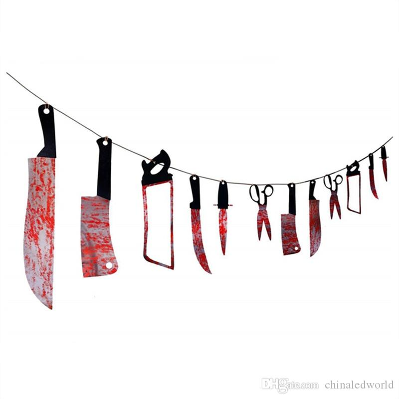 12 piezas de Halloween Bloody Was Garland