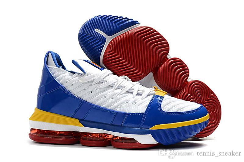 86e17014316 2019 2019 New LeBron 16 SB SuperBron Basketball Shoes For Men James 16s White  Varsity Red Varsity Royal Man Designer Sports Sneakers With Box From ...