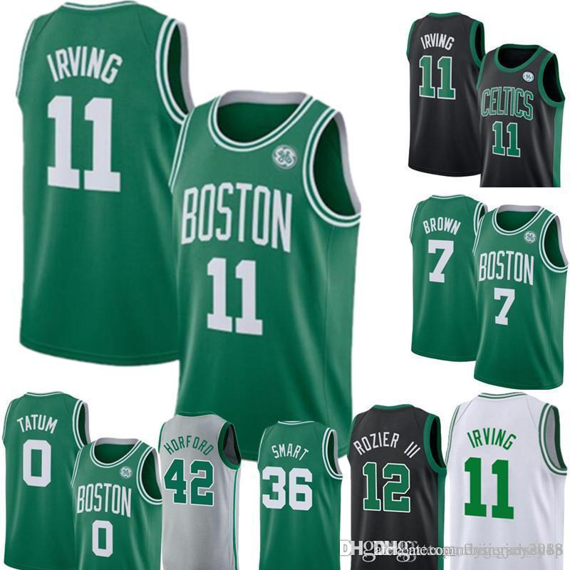 newest d3f44 34ffd Boston New 11 Kyrie Irving Celtic Jersey Mens Green Swingman Jersey - Icon  Edition Embroidery Basketball Jerseys S-XXL