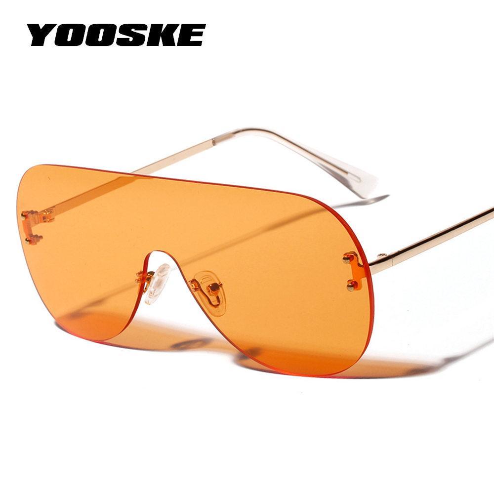 8d5b24f71a9 YOOSKE 2019 Oversized Sunglasses Women Vintage Luxury Brand Designer Sun  Glasses For Women Brown Black Red Orange Eyewear UV400 Womens Sunglasses  Sunglasses ...