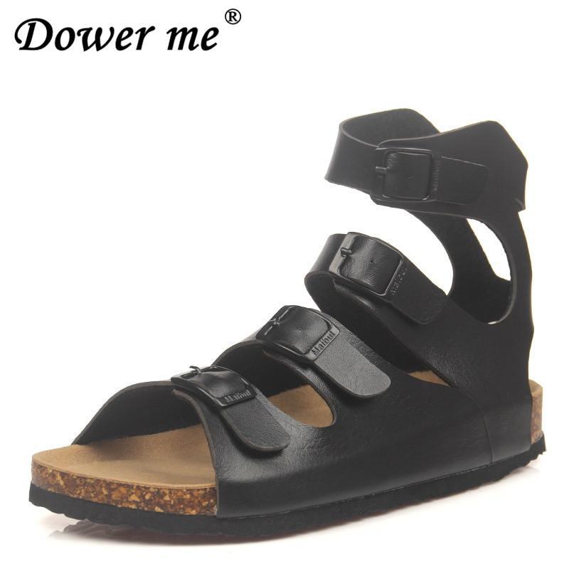 84ff764a59f7 Fashion Cork Sandals 2019 New Women Summer Buckle Strap Solid Beach Slipper  Flip Flops Sandals Shoe Flat With Plus Size 35 43 Discount Shoes Platform  Heels ...