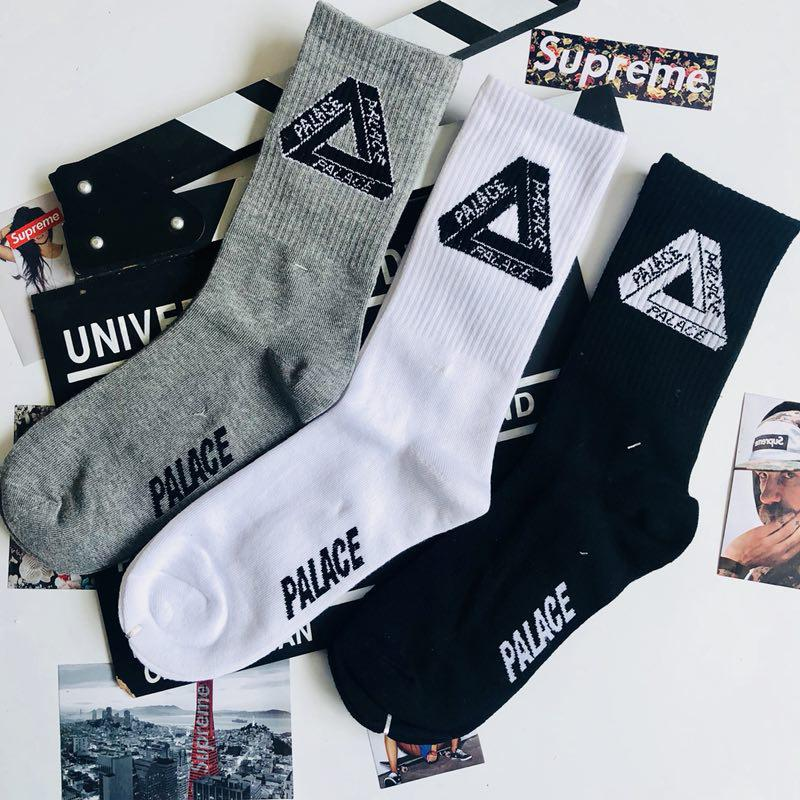 060f35acec5 Harajuku Triangular Mark Socks Skateboard Popular Logo Letters ...