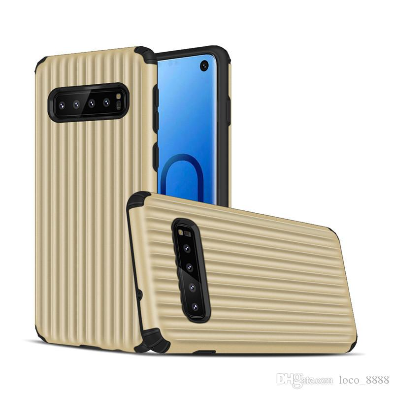 Fashion Luggage Phone Case For Samsung Galaxy S10 S9 Plus S10e Note 9 8  Case Shockproof Armor TPU PC Back Cover For iPhone XS MAX XR X