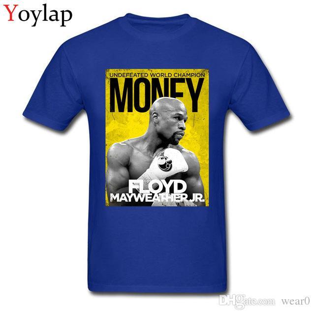 Team 2019 Desgaste De Camisetas Floyd Mayweather Negro Moda Street Hombre Camiseta Tops Money Custom Diseñador Para 9EIH2YDeW