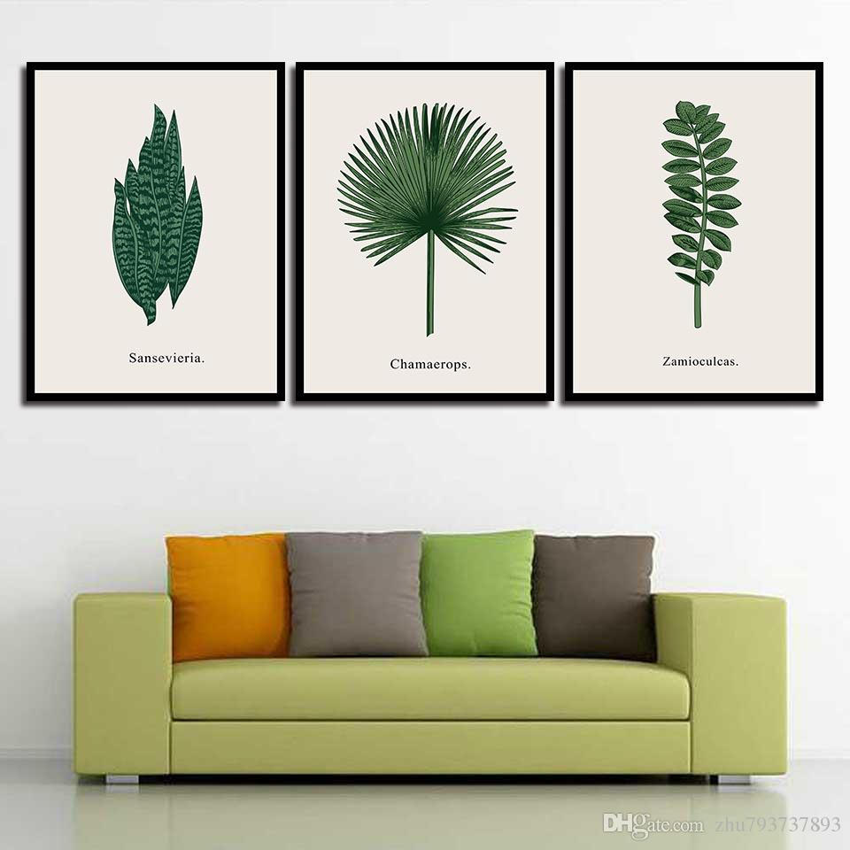 Canvas Nordic Minimalism Posters Nursery HD Prints Green Plant Wall Art For Baby Room Painting Picture Kids Bedroom Decoration