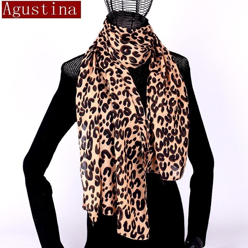 0933089d654 Women Scarf Chiffon Leopard Print Sjaal Poncho Scarfs Winter Hijab Shawl  Animal Brand Luxury Satin Ponchos Capes Coat Warm Schal Cute Bandanas  Motorcycle ...