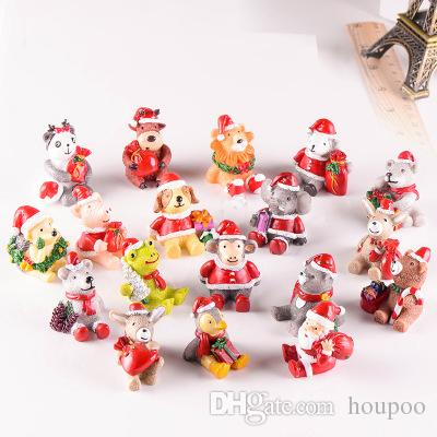 Resin Christmas Ornaments.18 Styles Resin Xmas Animals Mini Landscape Christmas Ornament Wedding Party Decoration Home Decor Novelty Items Toys For Adults