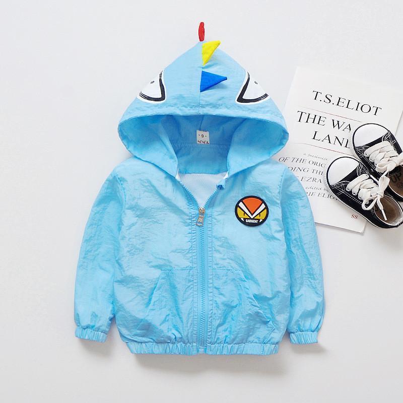 98724052d8b8 Good Quality Summer Baby Boys Coats Cartoon Style Toddler Sunscreen ...