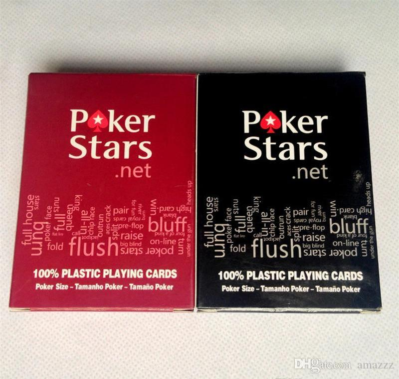 Red/Black Texas Holdem Plastic Playing Card Game Poker Cards Waterproof And Dull Polish Poker Star Board Games