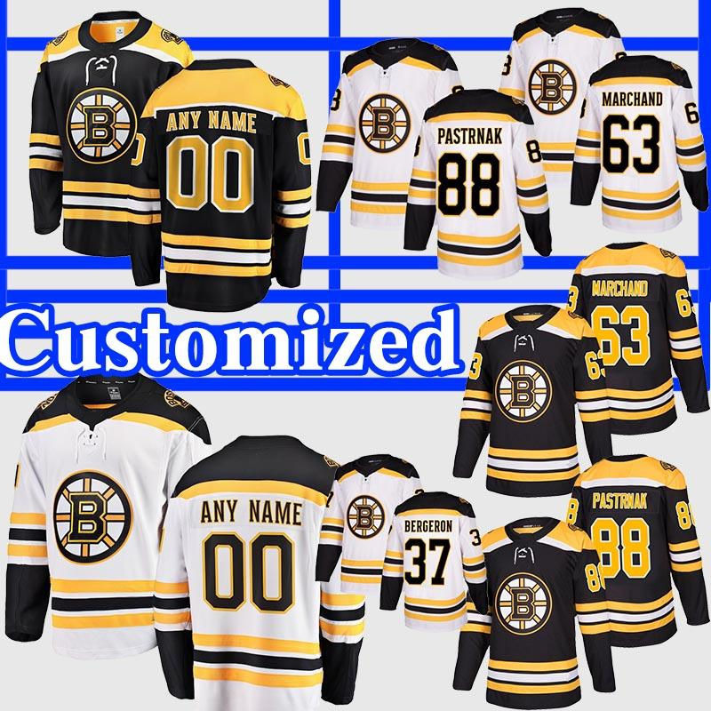 Personalize 2019 Stanley Cup Finals Boston Bruins Jersey 37 Patrice Bergeron Zdeno Chara Brad Marchand Rask Pastrnak Krug Hockey Jersey