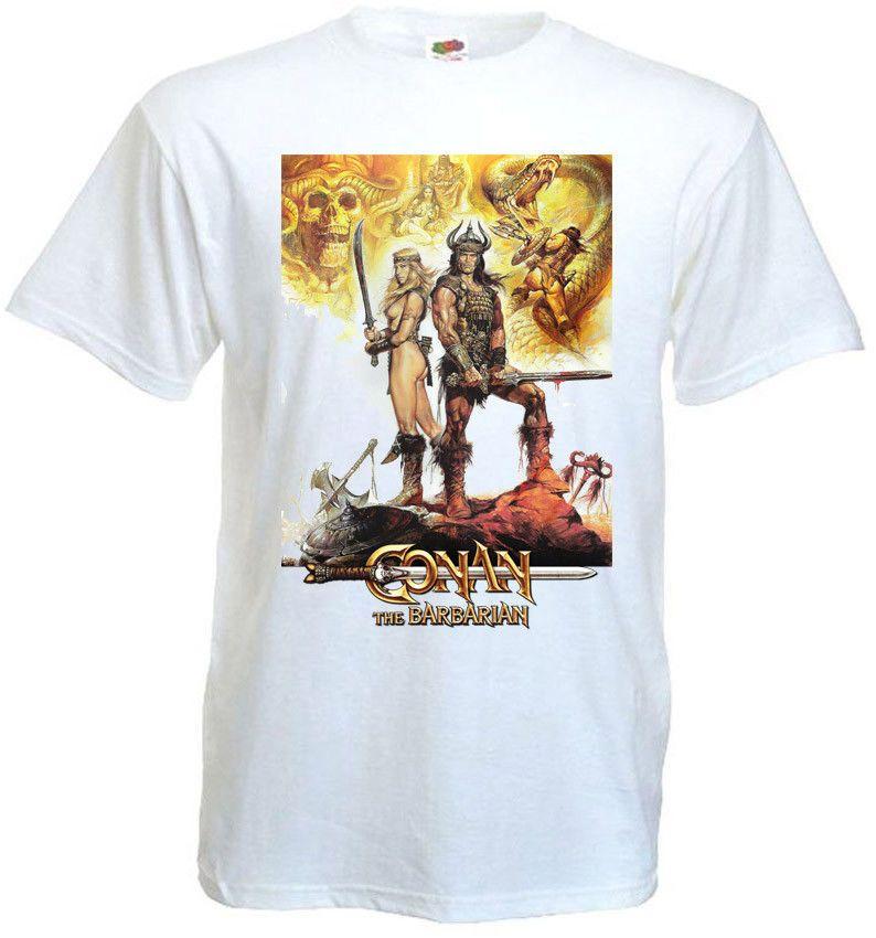 ecb7c74c Conan the Barbarian V4 T-shirt White Poster All Sizes S...5XL Colour ...