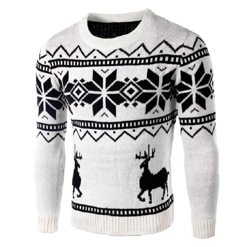 Boston Terrier Christmas Sweater.Christmas Sweater For Men Winter Autumn Snowflok Deer Knitted Male Jumpers Long Sleeve O Neck Casual Pullovers Knitwear 2j0073