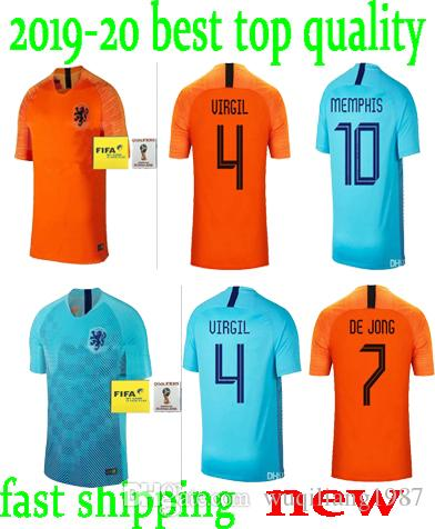 7419be1d0 2019 2018 19 Nederland Soccer Jersey Netherlands Home Away Orange MEMPHIS  JERSEY ROBBEN 18 19 Thai Quality V.Persie Dutch Football Shirts From  Wuqiliang1987 ...