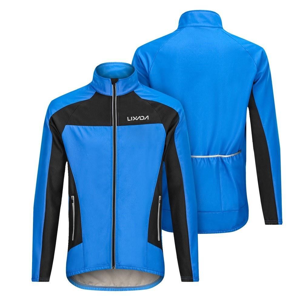buscar el más nuevo bien conocido como comprar Invierno Cálido Ciclismo térmico Chaqueta de manga larga Ropa de bicicleta  Jersey a prueba de viento MTB Mountain Bike Chaqueta Y9245-S