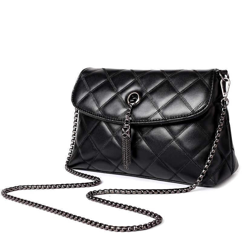8cc366922e51 Оптовая продажа-женщины Messenger сумки стеганые кожаные женщины сумка цепи  креста тела Сумки женские сумки Марка Леди сумка WLHB1399
