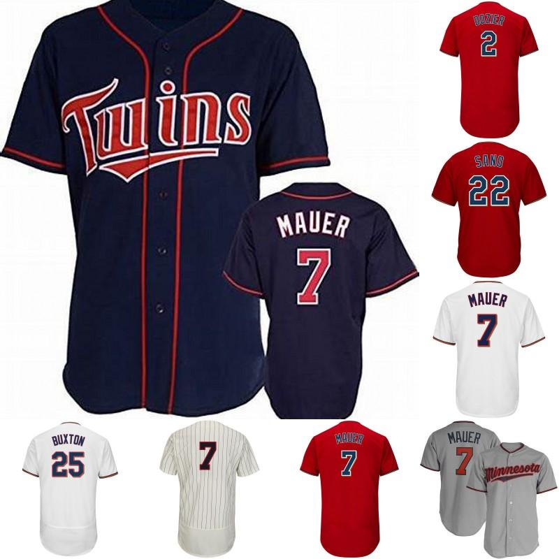 huge selection of e5bec f6df1 Minnesota Jersey 7 Joe Mauer 20 Eddie Rosario 23 Nelson Cruz 25 Byron  Buxton 26 Max Kepler 2 Brian Dozier Mens Lady Youth Baseball Jerseys