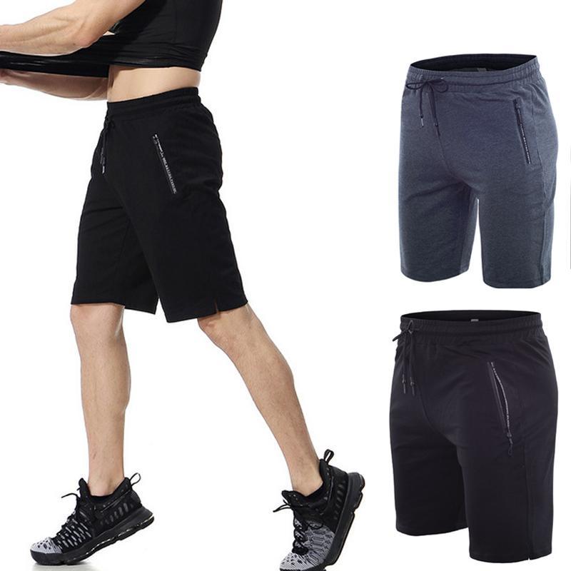 Compre 2019 Novo Verão Calções De Corrida Calções De Esportes Dos Homens  Com Bolso Gym Crossfit Treinamento Calças Curtas Masculino Plus Size S 3XL  De ... a6cf491745b8d
