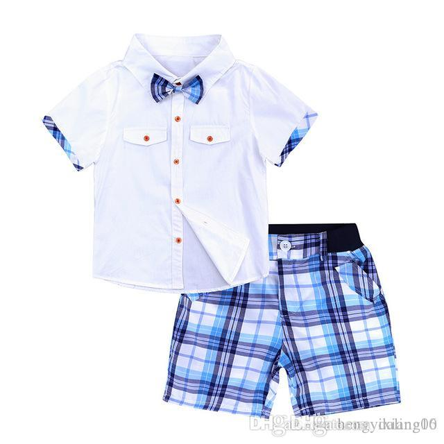 Neue INS Baby Jungen Mädchen Brief Sets TopT-shirt + Pants Kinder Kleinkind Infant Casual Kurzarm Anzüge Sommer Outfits Kleidung LY22