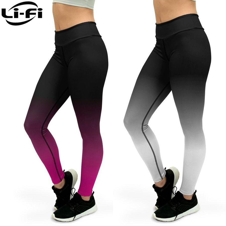 9b000371c2e0b 2019 LI FI Ombre Yoga Pants Fitness Leggings Women Workout Sports Running  Leggings Sexy Push Up Gym Wear Elastic Slim Pants #844214 From Yhx520, ...
