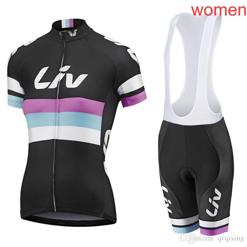 New LIV Cycling Clothing Bike Jersey Women Set MTB Bicycle Clothes Team  Maillot Cycling Jersey Gel Bike Bib Shorts Suit Y012538 LIV Cycling Jerseys  Ropa ... 3a63b4ca6