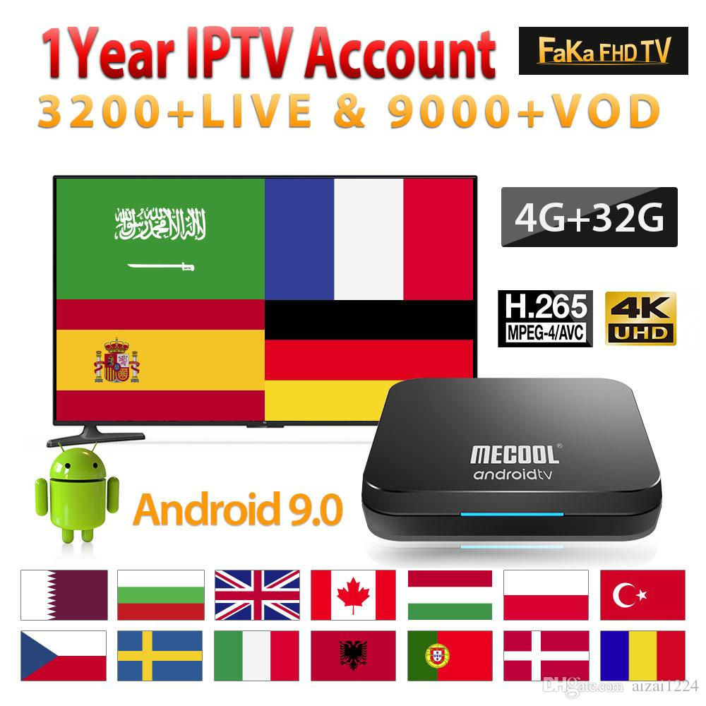 Europe IPTV Subscription KM9Pro 4G 32G Android Tv 9 0 Box With 1 Year IPTV  Code France Arabic Italy Canada IPTV Spain Portugal