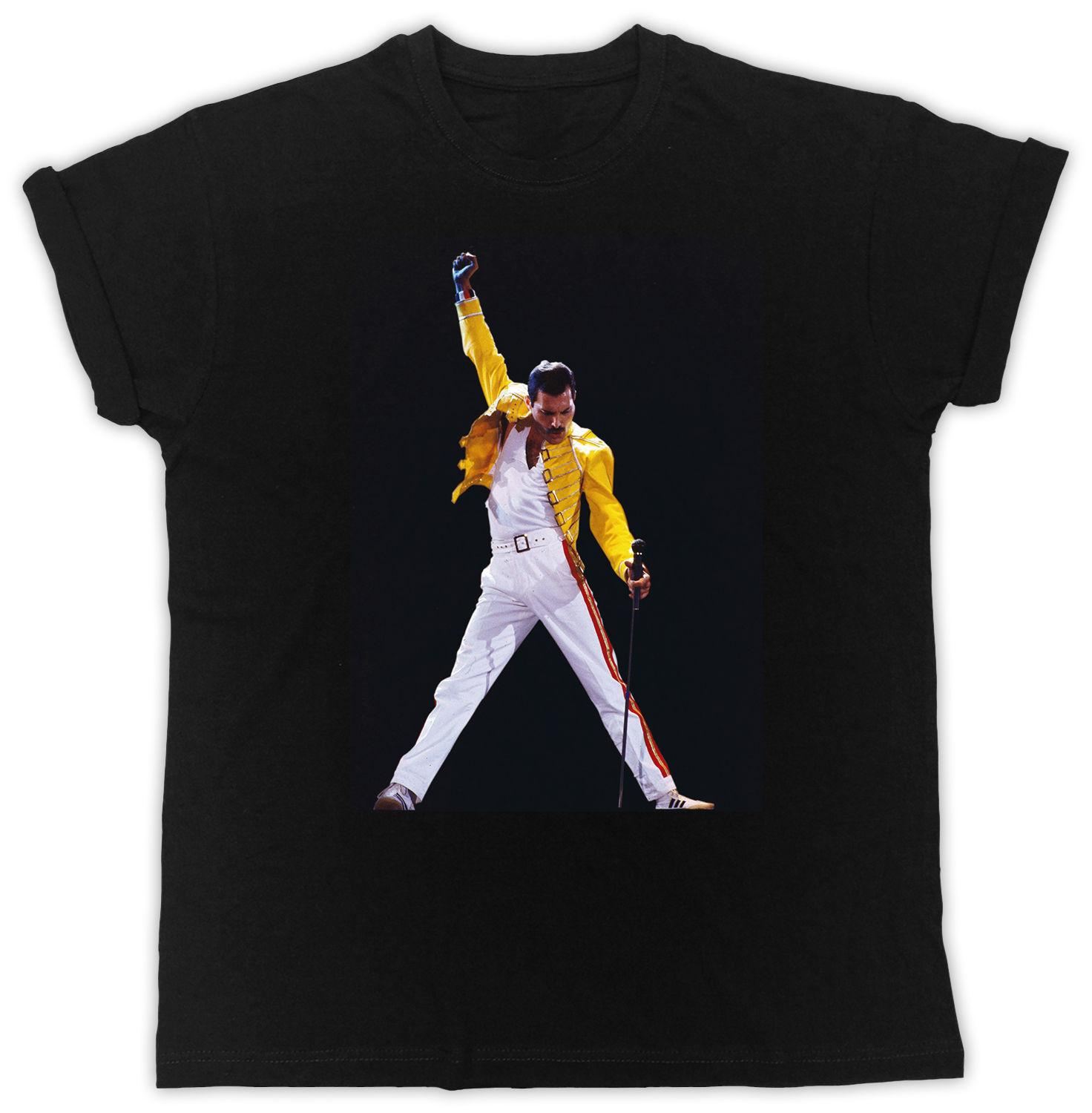 eb322319fac LOGO NEW 1FREDDIE MERCURY MIC T-SHIRT LEGEND COOL UNISEX CASUAL RETRO TEE  SHIRT Online with  13.54 Piece on Typesofshirts54 s Store