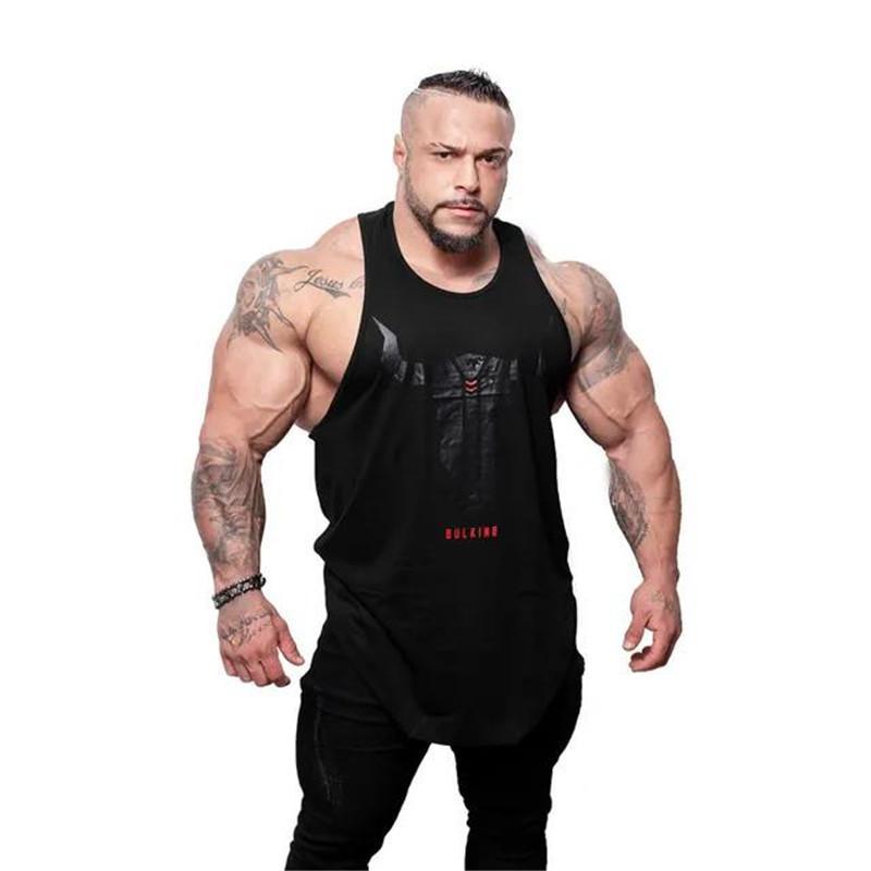 ff7503bb 2019 Brand Bull Head Printing Clothing Bodybuilding Stringer Gym Running  Vest Men Fitness Singlet Cotton Sleeveless Shirt Muscle From Peachguo, ...