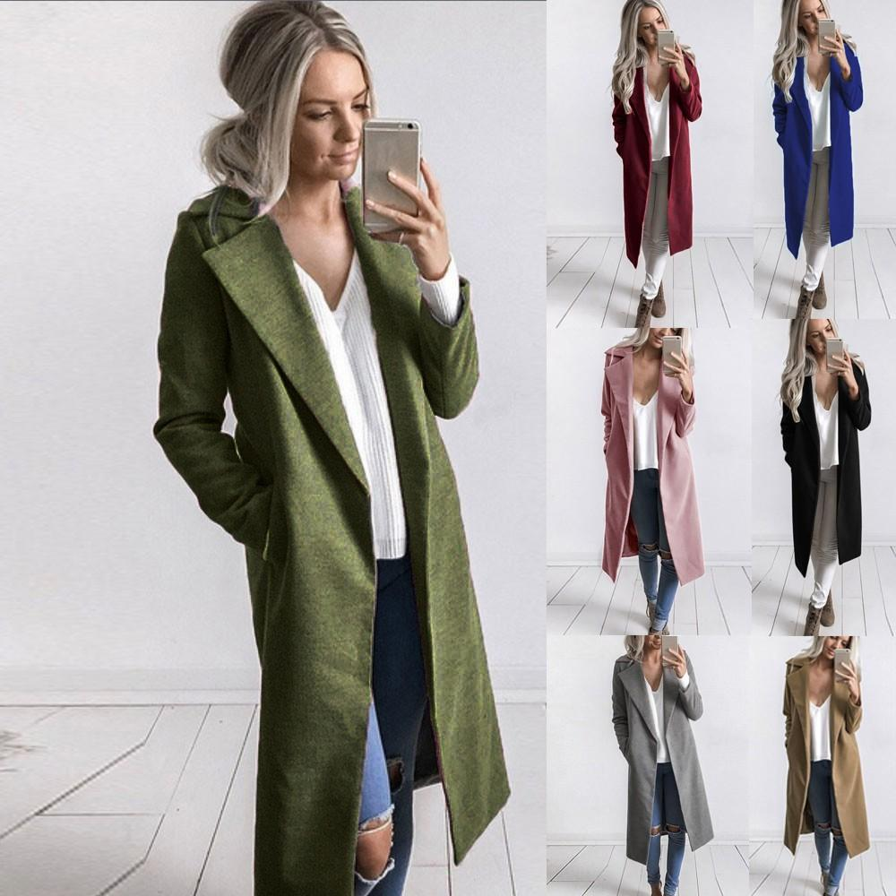 c3a6c4cb6671 2019 2018 New Women S Casual Sash Suede Trench Coat Casual Leather Pocket  Long Women Autumn Coat Winter Warm Outwear Overcoat Female From Jilihua
