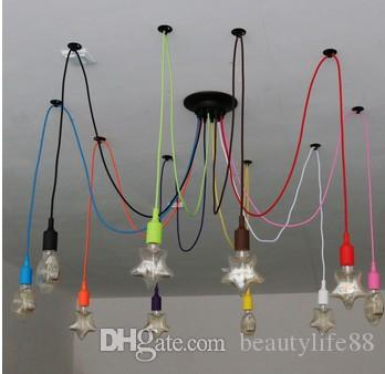 DIY Colorful Spider Loft Chandelier Lighting Retro Spider Lighting AC 110-240V custom made large modern chandeliers ceiling light