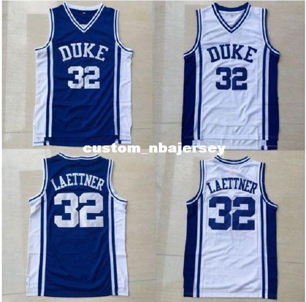 fcb0b059641e Großhandel Billige Benutzerdefinierte Christian Laettner   32 NCAA Duke  Blue Devils Basketballtrikot White Blue Stitch Anpassen Jede Nummer Name  HERREN ...