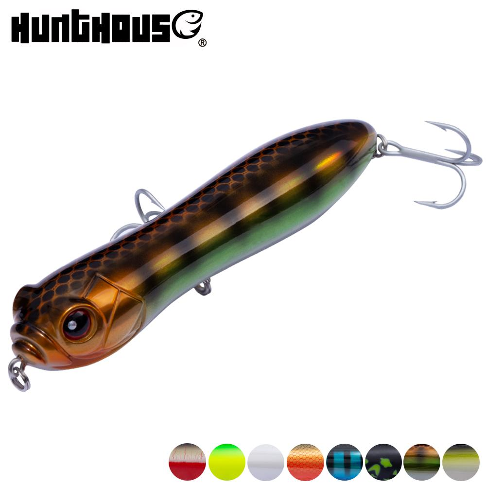 Hunthouse pencil lure top water freshwater fishing lure 130mm 32g big rattle ball loud noise VMC hook for bass pike
