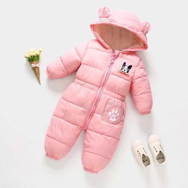 74ddb6ff17a 2019 Quality Winter Baby Rompers Clothing Infant Boys Girl Cartoon Down  Cotton Rompers Jumpsuit Toddler Bebe Hooded Snonwear Outfits From  Westbit14