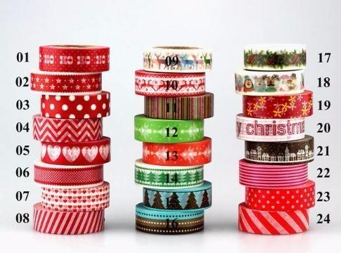2019 1pc Tape Christmas set coeur rouge Scrapbooking DIY Sticker adhésif décoratif washi ruban 10 m