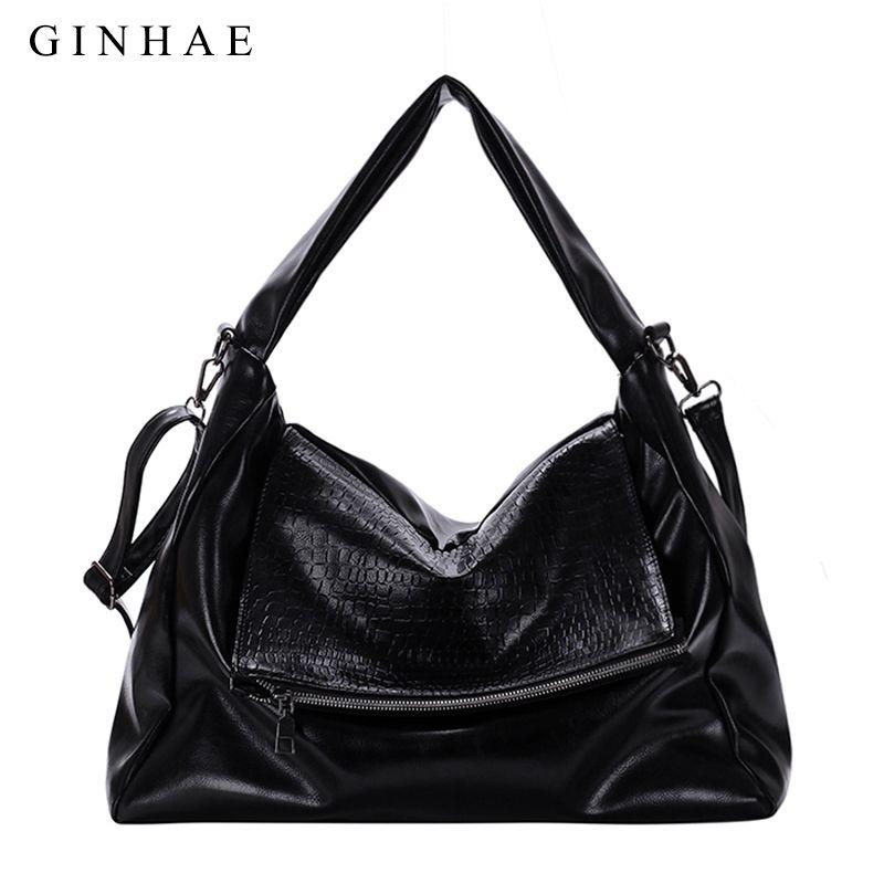 Fashion Crocodile Casual Tote Bags Handbags Women Famous Brands Soft Leather  Hobos Large Capacity Women Shoulder Messenger Bags Side Bags Handbag Brands  ... 1f03628418