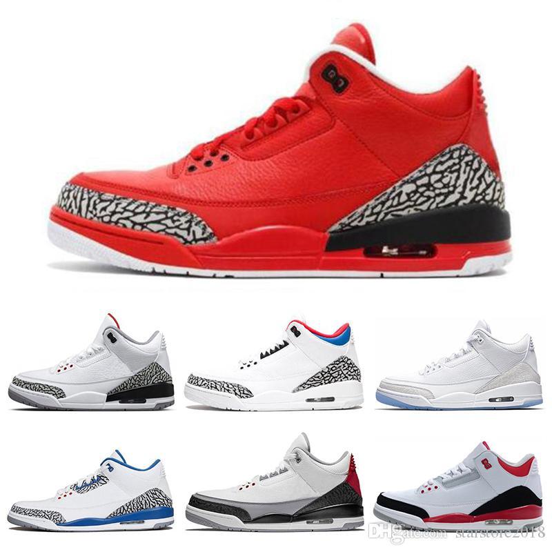 finest selection f42ae 61da0 Nike Air Jordan 3 3s Zapatillas De Baloncesto Clásicas 3 3s Vuelo  Internacional Negro Cemento Fuego Línea Libre Tiro Grateful Zapatilla  Deportiva Tamaño 7 ...