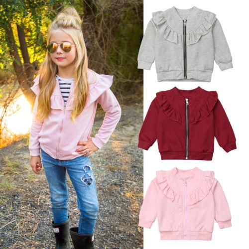 8e4504ffc Pretty Baby Girl Cotton Coats Solid Color Long Sleeve Warm Tops ...