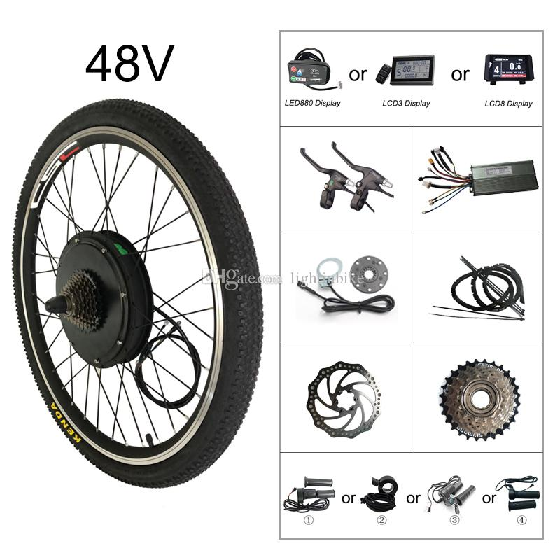 CSC Electric Bike Motor Conversion ebike Kit 48V 1000W for Mountain Bike  20-29inch 700C with Regeneration LCD display and Bluetooth Function