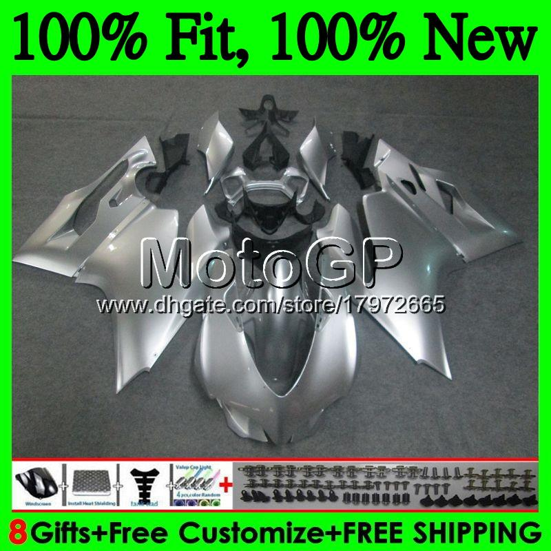 Injection Body For DUCATI 899R 1199R 899 1199 12 13 14 15 16 15GP10 899S Gloss silver S R 1199S 2012 2013 2014 2015 2016 Fairing Bodywork