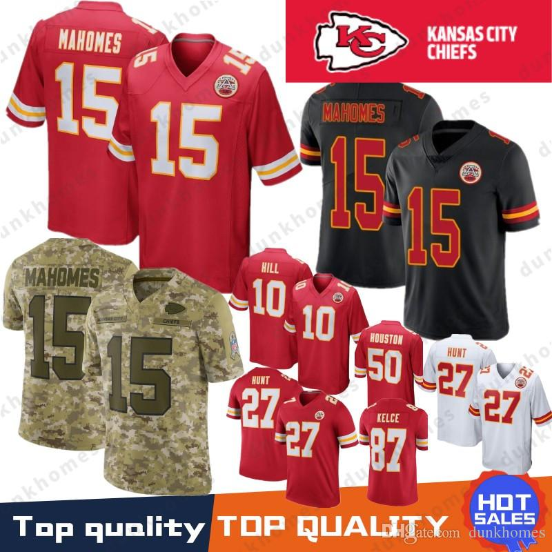 2019 Kansas City 15 Patrick Mahomes 10 Tyreek Hill Chief Jersey 14 Sammy  Watkins 58 Derrick Thomas 27 Kareem Hunt 50 Houston 87 Travis Kelce From  Dunkhomes 5780702b0