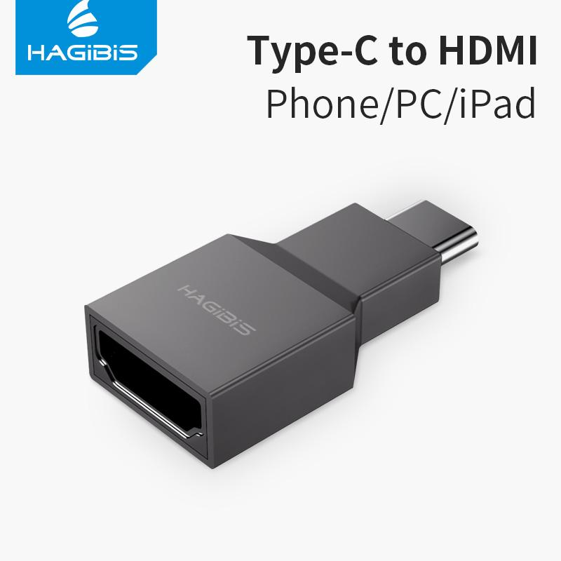 wholesale USB C to HDMI adapter Type C male to HDMI female Converter 4K@30Hz HD for Macbook Samsung Galaxy S10 Huawei P30 iPad