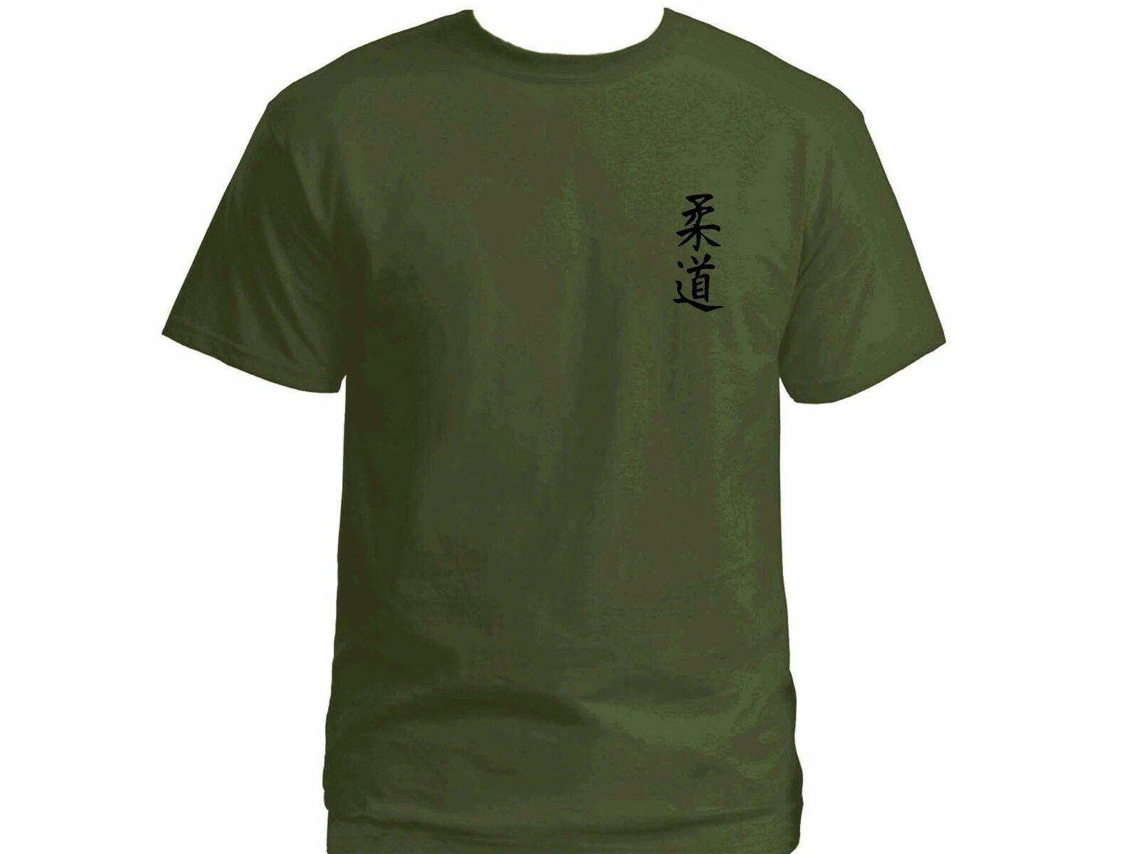 Judo Ju Do Japanese Hieroglyph Martial Arts Mma 100 Cotton Olive Green T Shirt Men Women Unisex Fashion Tshirt Free Shipping