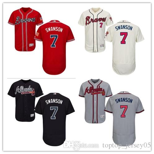 new style a333e c3465 2018 can Atlanta Braves Jerseys #7 Dansby Swanson Jerseys  men#WOMEN#YOUTH#Men s Baseball Jersey Majestic Stitched Professional  sportswear