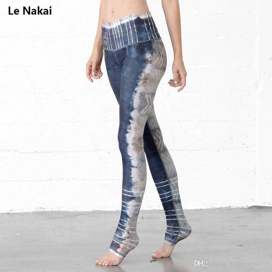 e38abbce10c18 Acheter Femmes Yoga Pantalon Gris Abstrait Art Imprimé Yoga Leggings  Rayures Jogging Gym Running Collants Exercice Femme Fitness Sportwear #  147262 De ...