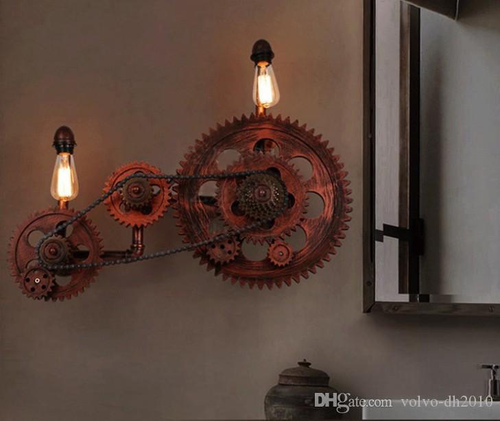Acheter Style Loft Industriel Créatif Engrenage En Bois