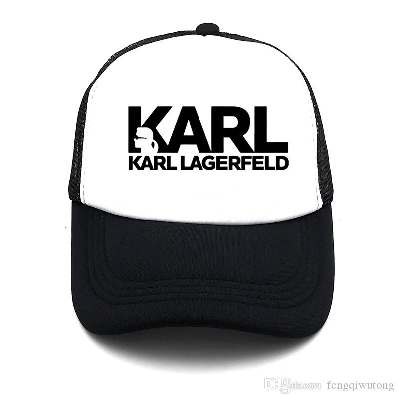 395b0ad2 Spring Cute Print Karl And His Cat Summer Baseball Net Cap Men And Women  Fashion Trend Solid Color Simple Breathable Mesh Net Hat Hat Store Ny Cap  From ...